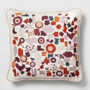 Small Embroidered Square Throw Pillow - Opalhouse